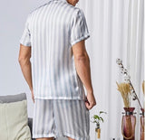 Men Vertical Striped PJ Set