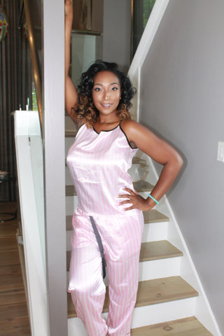 Luv Satin Cami Top & Pants PJ Set