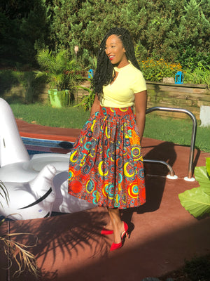 Luv African print skirt
