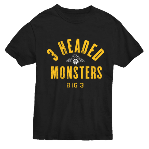 3 HEADED MONSTERS T-SHIRT
