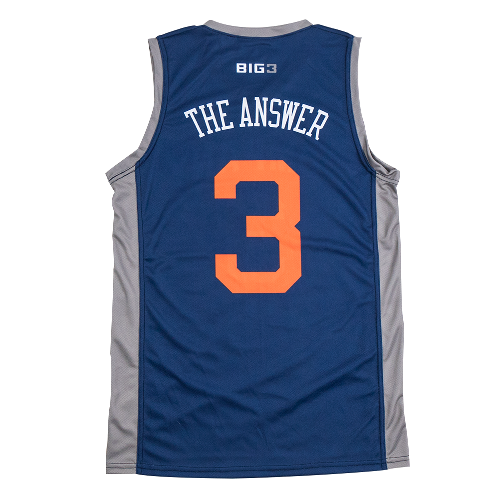 """31083a6d6bf 3s Company – Allen Iverson """"The Answer"""" – Official Player Captain  Philadelphia 76ers Mens Allen Iverson Black Hardwood Classics Swingman  Jersey by Adidas ..."""
