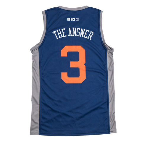 "3's Company – Allen Iverson ""The Answer"" – Official Player Captain Replica Jersey"