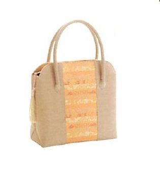 Japanese I design simply Tote bag With a bunch Beige [japan import]