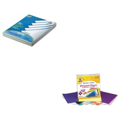 KITPAC101188PAC72200 - Value Kit - Pacon Origami Paper (PAC72200) and Pacon Array Card Stock (PAC101188)