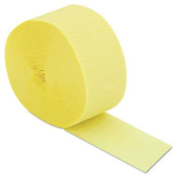 Cindus Crepe Streamers, 81ft, Yellow - six rolls.