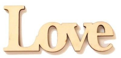 'Love' Cardinal arts & Crafts Wood Word, unfinished