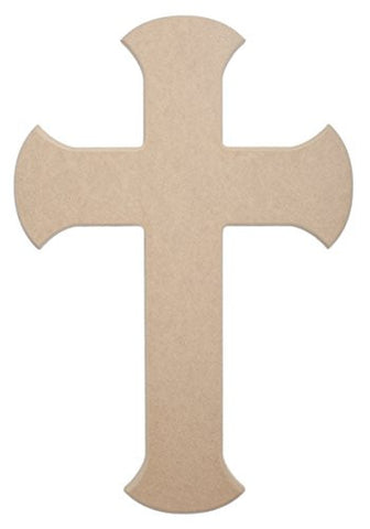 "36"" X 24"" Blade Wood Cross Unfinished DIY Jumbo Wooden Craft Cutout to Sell Stacked Crosses"