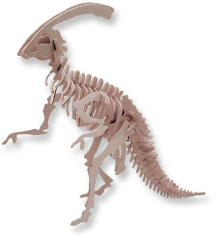"""ABC Products"" - Balsa Wood ~ Dinosaur Skeleton - All Wood - Assembling Kit (Walking Parasurolophus Model)"