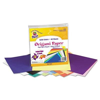 "Pacon - 3 Pack - Origami Paper 30 Lbs. 9 X 9 Assorted Bright Colors 40 Sheets/Pack ""Product Category: Crafts & Recreation Room Products/Arts & Crafts Supplies"""