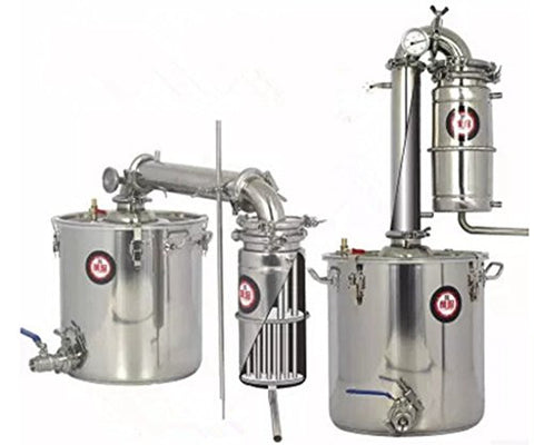 Cyana 45L Transformer Wine Maker Brew Kit Alcohol Distiller Household Stainless Steel