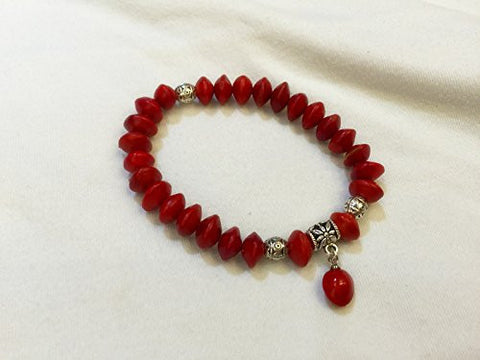 100% Natural Plant Acacia Red Beans (Adenanthera Pavonina) Handwork Ornament (Bracelets)