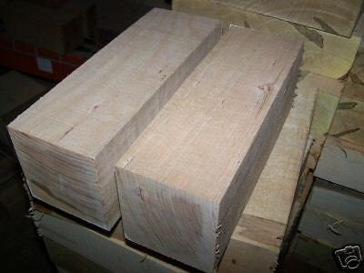 "(Ship from USA) TWO LARGE CHERRY TURNING BLOCKS LATHE BLANKS WOOD LUMBER 4 X 4 X 11"" *GWE849F EP-21RT19864"