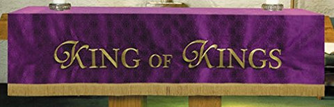 R.J. Toomey Purple Polyester King of Kings Embroidered Altar Frontal, 52 Inch