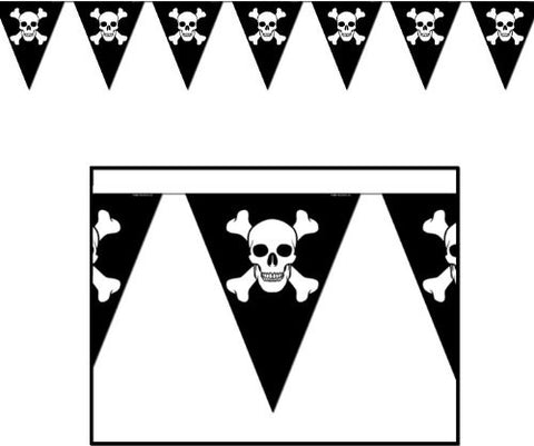 Ddi Jolly Roger Pennant Banner (pack Of 96)