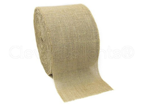 "CleverDelights 8"" Natural Burlap Roll - 10 Yards - Eco-Friendly Jute Burlap Fabric - 8 Inch"