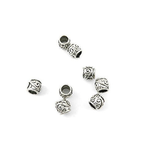 10 Pieces Jewelry Making Charms LIHU03 Loose Beads Pendant Ancient Silver Findings Craft Supplies Bulk Lots