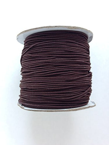 Dark Brown Elastic Stretch Shock Cord 1mm 109 yards spool roll