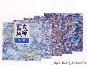 Yuzen Washi Chiyogami Origami Paper 15cm 5 sheets #3252 by JapanBargain