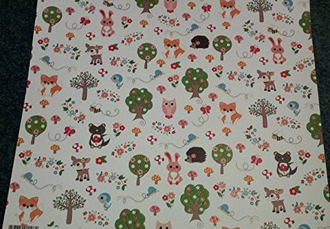 Imaginisce 12x12 Embossed Paper - HEY Foxy - 2 Sheets