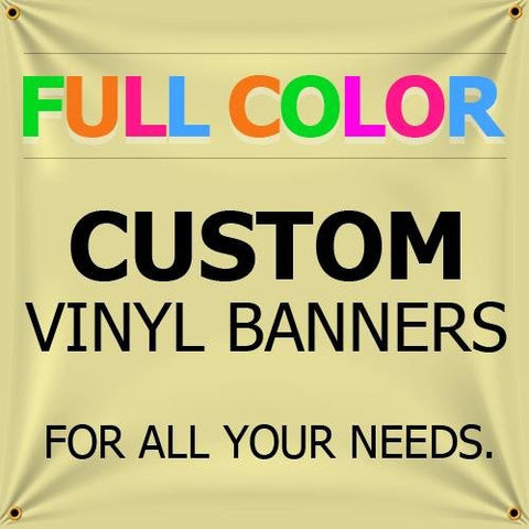 NEW 8'x18' Custom Full Color Vinyl Banners Indoor/Outdoor Personalized Banners with Grommets Custom Vinyl Party/Birthday Banner with True Solvent Ink Signs by BannerBuzz
