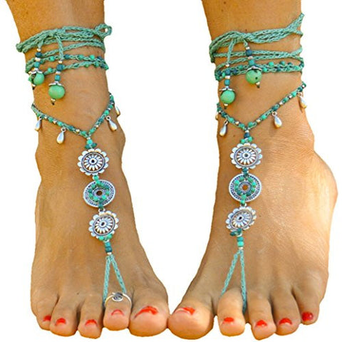 Barefoot Sandals Water Mandala Foot Jewelry Hippie Sandals