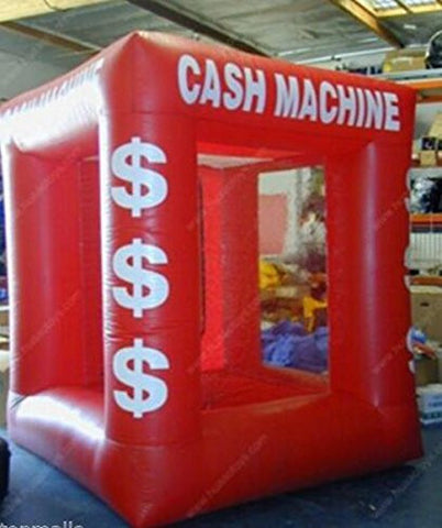 Cyana® BRAND NEW Red Color Inflatable Money Machine Cash Cube Money Booth