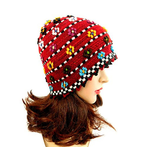 "Women's Hat Beanie Multicolor Handmade 21"" Hat"