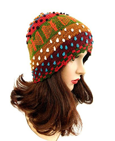 Unisex Hat Beanie Multicolor Handmade Kid or Teen Hat