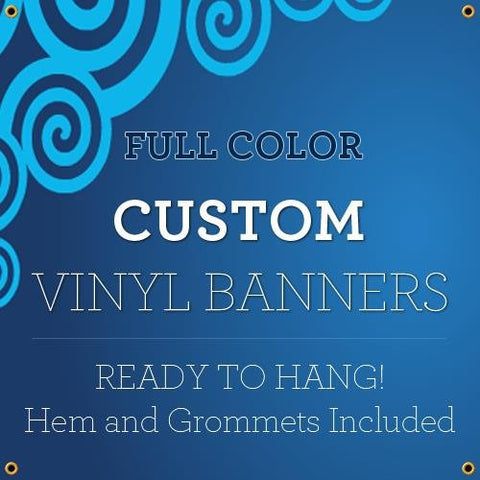 NEW 8'x25' Custom Full Color Vinyl Banners Indoor/Outdoor Personalized Banners with Grommets Custom Vinyl Party/Birthday Banner with True Solvent Ink Signs by BannerBuzz