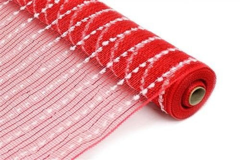 "21"" Snowball Deco Mesh: Red (10 Yards)"