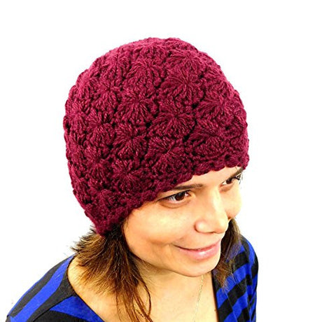Alpaca Winter Beanie Handmade Women's Red Hat