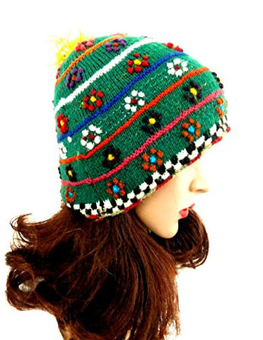 Teen Hat Beanie Multi-color Handmade