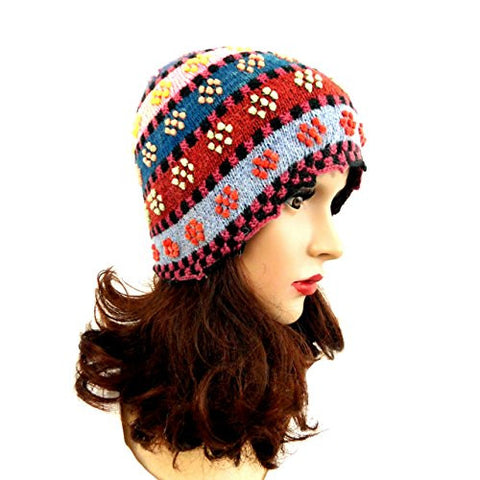 Women's Hat Beanie Multicolor Handmade Hat