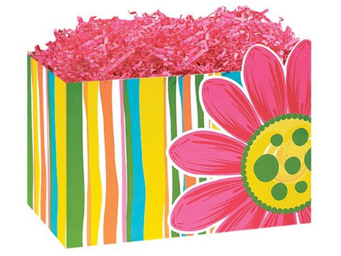 "1 Large Flowers Floral Citrus Garden Gift Basket Box 10-1/4"" X 6"" X 7-1/2"" for Gift Baskets"