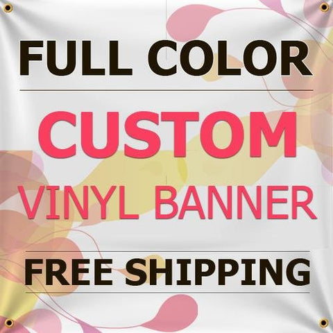 NEW 9'x15' Custom Full Color Vinyl Banners Indoor/Outdoor Personalized Banners with Grommets Custom Vinyl Party/Birthday Banner with True Solvent Ink Signs by BannerBuzz