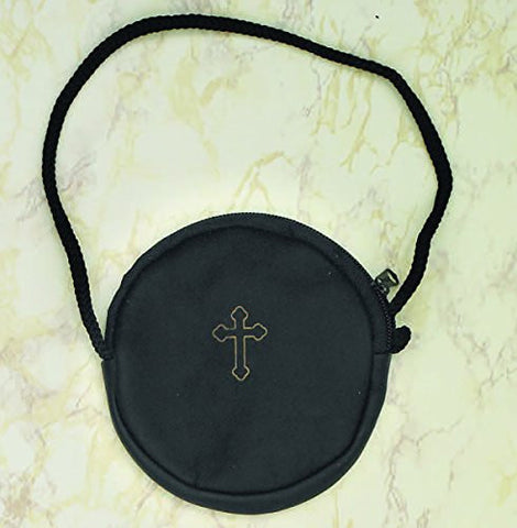 Leather Burse with cord - 3 Colors (Black)