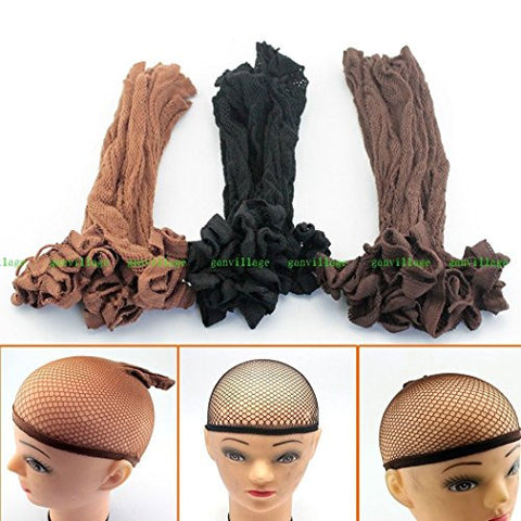 15Pcs Stretch Cool Mesh Weaving Wig Cap Hair Nets Hairnet Snood Cosplay Party