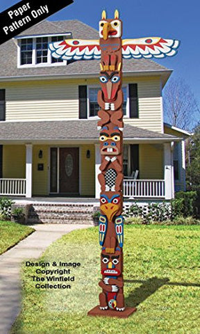 Large American Indian Totem Pole Plans