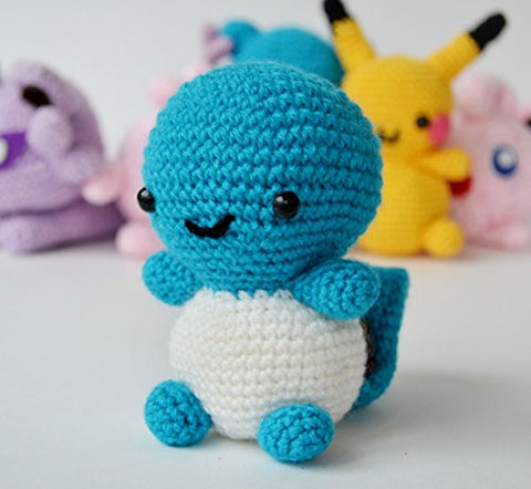 Handmade Soft Toy Squirtle Blue Knitted Acrylic Sintepon Eco Friendly Children Games