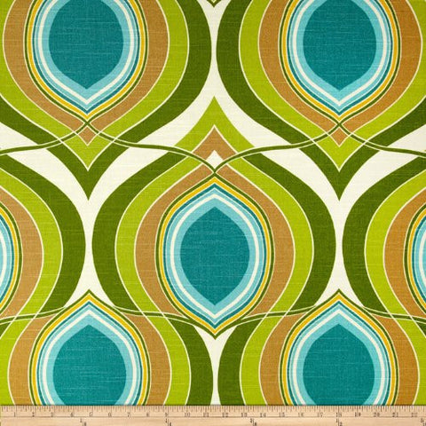 HGTV Home Groove Move Turquoise Fabric By The Yard