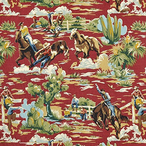 Braemore Ride em Cowboy Chili Fabric - by the Yard