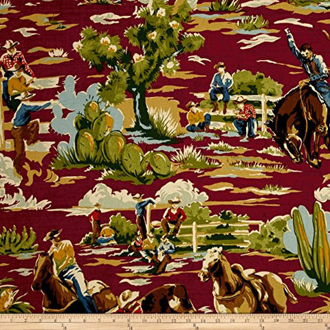 Braemore Ride Em Cowboy Chili Fabric By The Yard