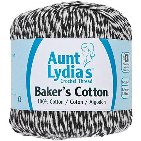Coats Crochet Aunt Lydia's Baker's Cotton Crochet Thread, Black