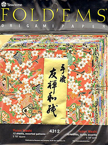 Yasutomo Fold'ems Origami Paper (Yuzen) - 5 7/8 In. (Pack of 12) 2 pcs sku# 1828888MA