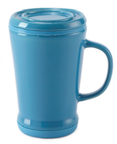 14oz Tea Infuser Mug Blue Berry