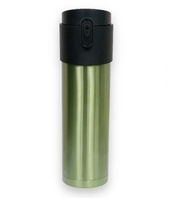 16 oz Trio SS Tea Travel Mug Green Brushed