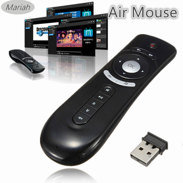 2.4G Wireless Gyroscope Fly Air Mouse T2 Mice Android Remote Controller 3D Motion Stick Combo Computer Peripheral