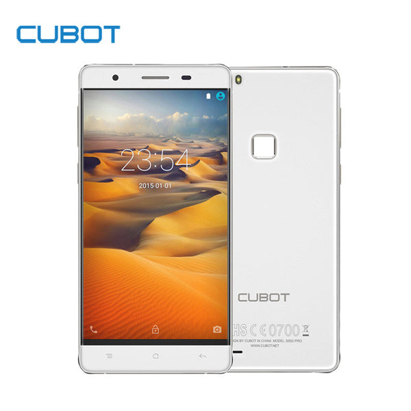 CUBOT S550 Pro 5.5 Inch HD Screen Smartphone 3GB RAM 16GB ROM Cell Phone MTK6735 Quad Core Fingerprint Mobile Phone