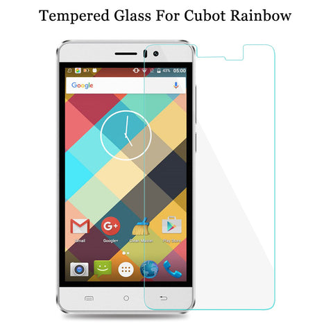 Original Soultz 9H Cubot Rainbow Tempered Glass Front Glass Film For Cubot Rainbow Cellphone Screen Protector Protective Film