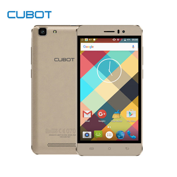 Cubot Rainbow MTK6580 Quad Core Unlocked Smartphone Android 6.0 2200mAh Cell Phone 5.0 Inch 1GB RAM 16GB ROM Mobile Phone